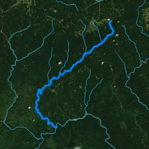 Fly fishing map for Kettle Creek, Pennsylvania