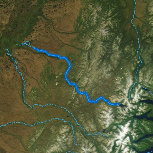 Fly fishing map for Kisaralik River, Alaska