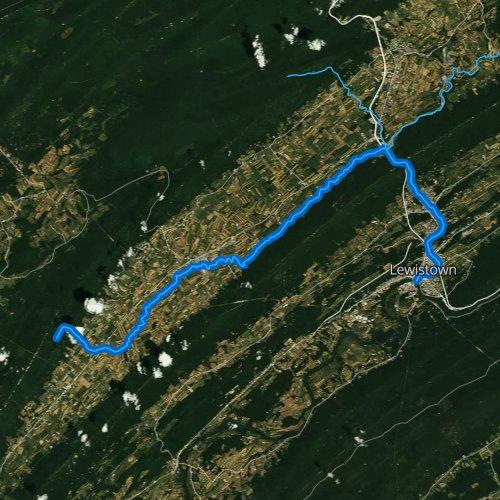 Fly fishing map for Kishacoquillas Creek, Pennsylvania