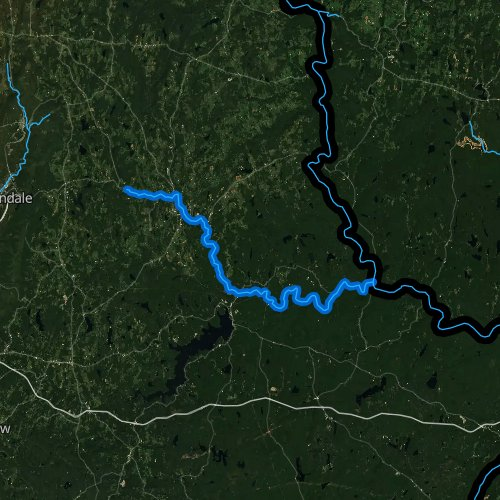 Fly fishing map for Lackawaxen River, Pennsylvania