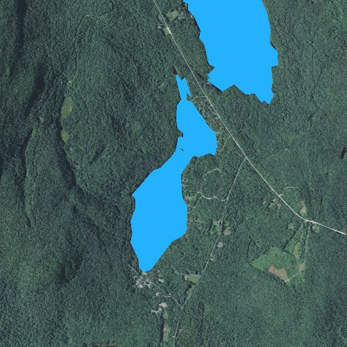 Fly fishing map for Lake Armington, New Hampshire