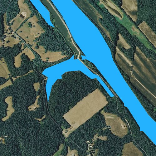 Fly fishing map for Lake Barkley, Tennessee