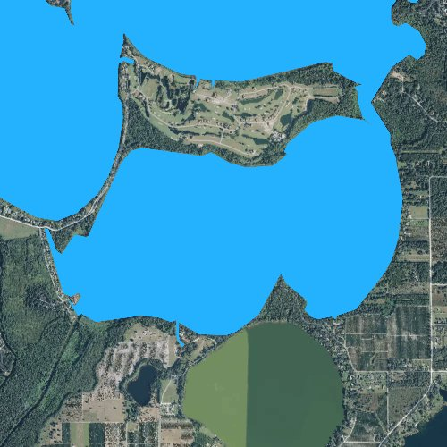 Fly fishing map for Lake Beauclair, Florida