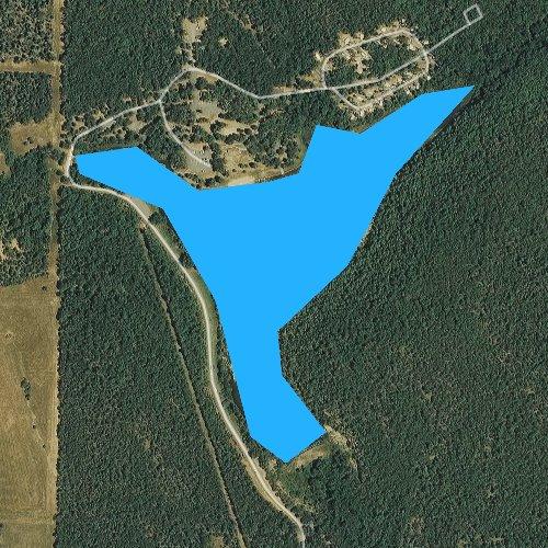 Fly fishing map for Lake Bennett, Arkansas
