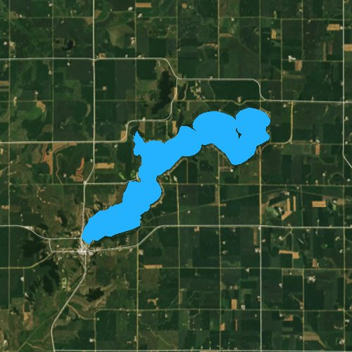 Fly fishing map for Lake Benton, Minnesota