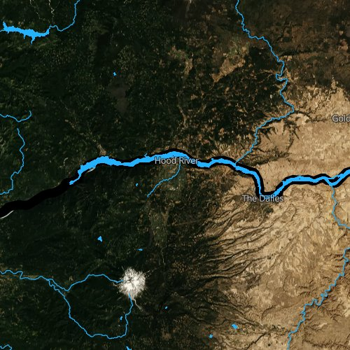 Fly fishing map for Lake Bonneville, Oregon