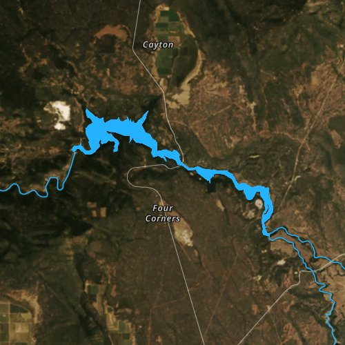 Fly fishing map for Lake Britton, California