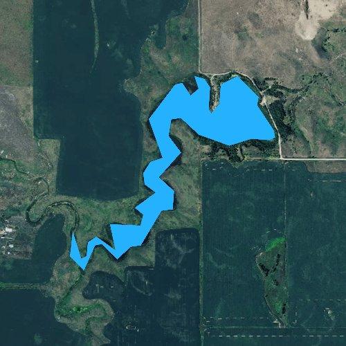 Fly fishing map for Lake Campbell, South Dakota