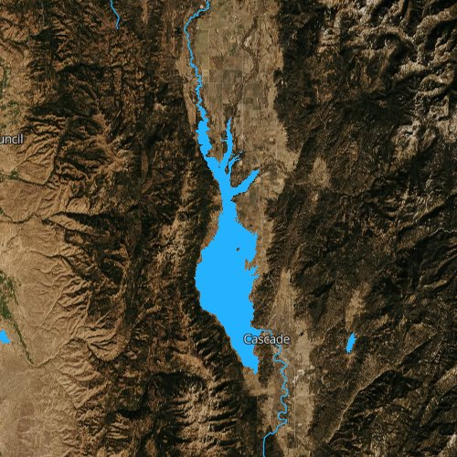 Fly fishing map for Lake Cascade, Idaho