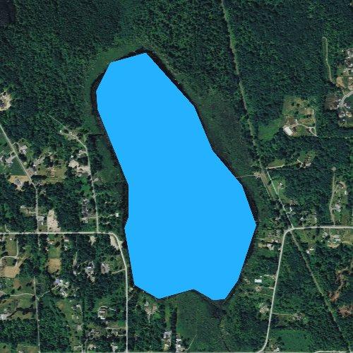 Fly fishing map for Lake Cassidy, Washington
