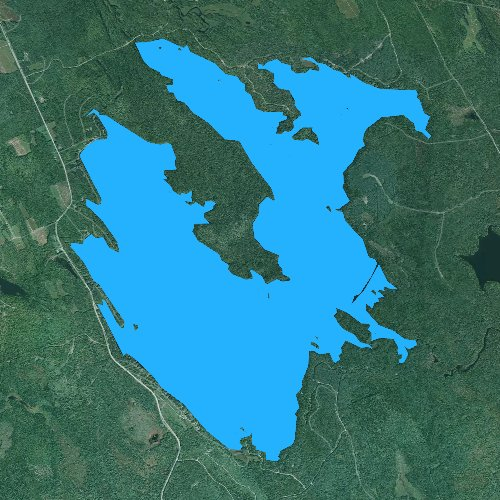 Fly fishing map for Lake Cathance, Maine