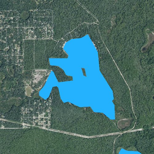 Fly fishing map for Lake Catherine, Florida