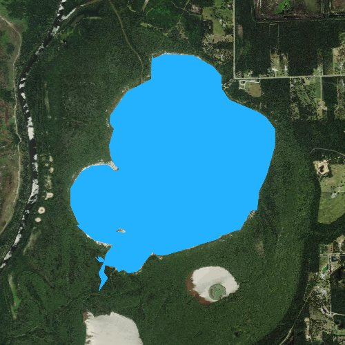 Fly fishing map for Lake Charlotte, Texas