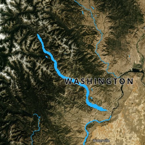 Fly fishing map for Lake Chelan, Washington