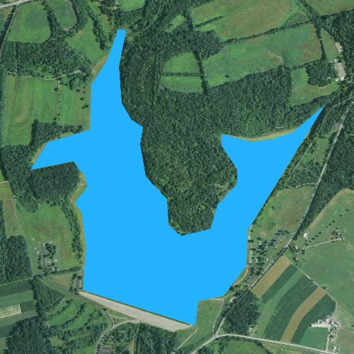 Fly fishing map for Lake Chillisquaque, Pennsylvania