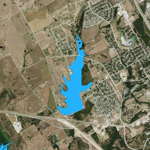 Fly fishing map for Lake Clark, Texas