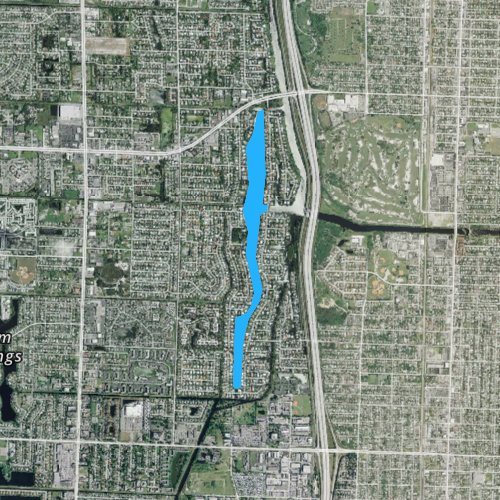 Fly fishing map for Lake Clarke, Florida