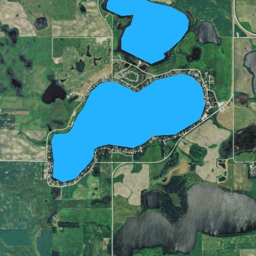 Fly fishing map for Lake Cochrane, South Dakota