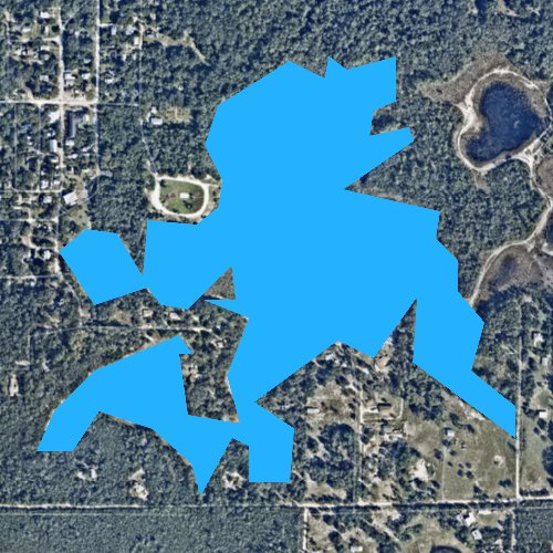 Fly fishing map for Lake Colby, Florida