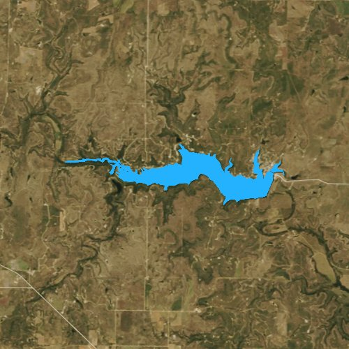 Fly fishing map for Lake Coleman, Texas