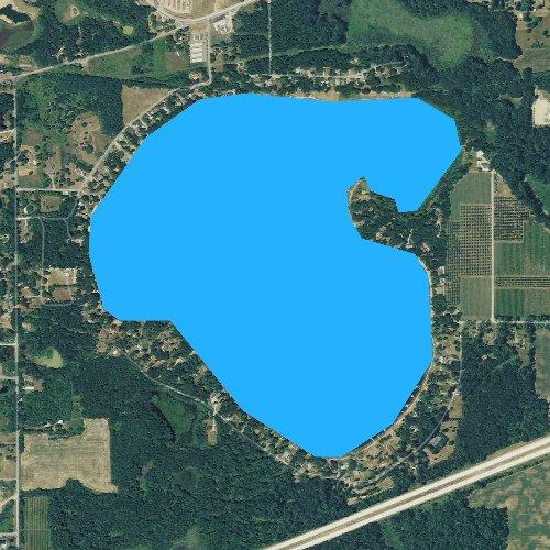 Fly fishing map for Lake Cora, Michigan