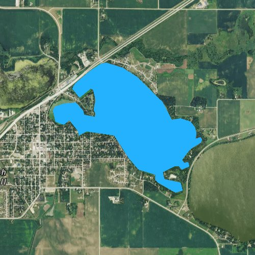 Fly fishing map for Lake Crystal, Minnesota