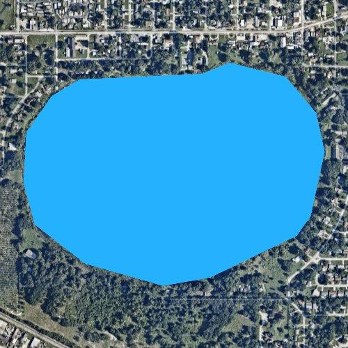 Fly fishing map for Lake Deer, Florida