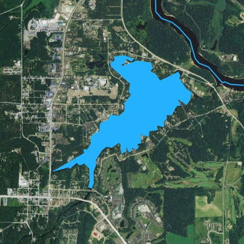 Fly fishing map for Lake Delton, Wisconsin