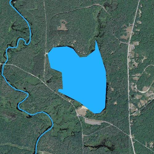 Fly fishing map for Lake Denison, Massachusetts