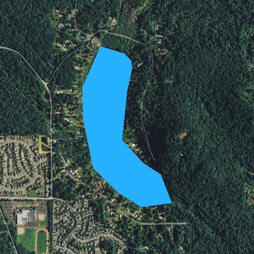 Fly fishing map for Lake Desire, Washington