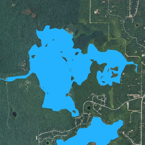 Fly fishing map for Lake Dubonnet, Michigan