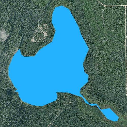 Fly fishing map for Lake Eaton, Florida