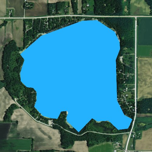 Fly fishing map for Lake Emily, Wisconsin