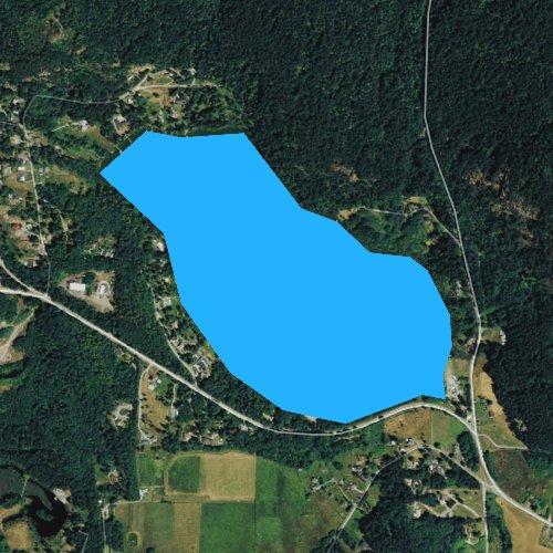 Fly fishing map for Lake Erie, Washington
