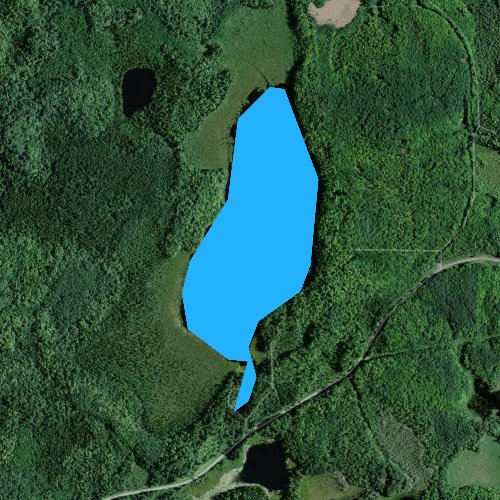 Fly fishing map for Lake Evelyn, Wisconsin