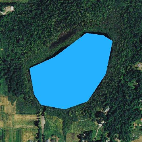 Fly fishing map for Lake Fazon, Washington