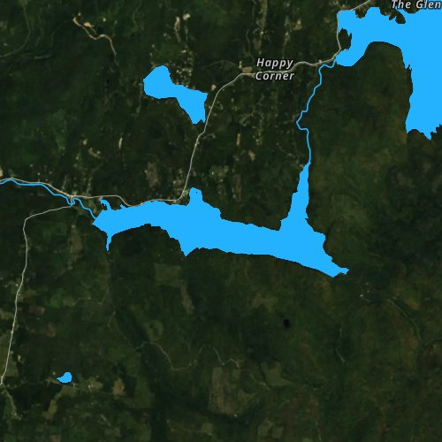 Fly fishing map for Lake Francis, New Hampshire