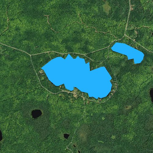 Fly fishing map for Lake Galilee, Wisconsin