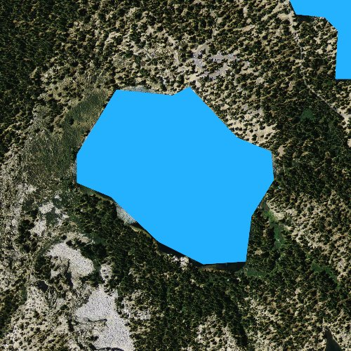 Fly fishing map for Lake George, California