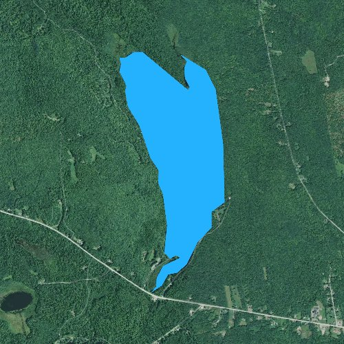 Fly fishing map for Lake George, Maine