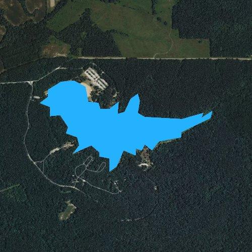 Fly fishing map for Lake Glendale, Illinois