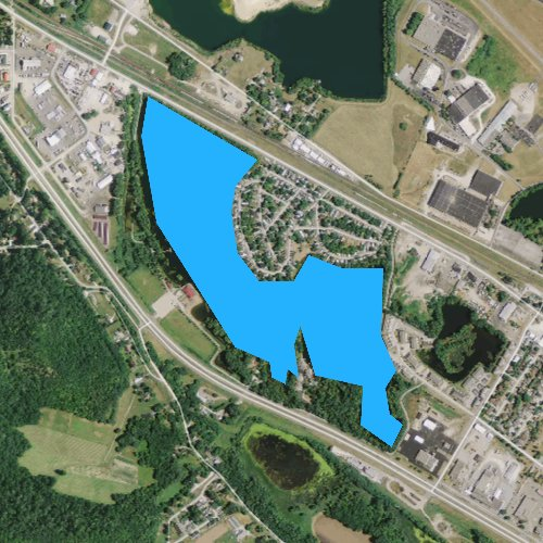 Fly fishing map for Lake Goodview, Minnesota