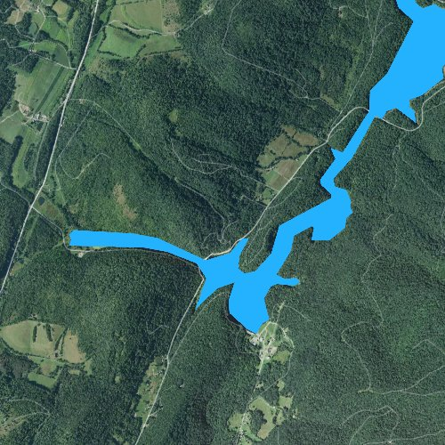Fly fishing map for Lake Gordon, Pennsylvania