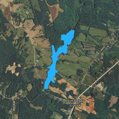 Fly fishing map for Lake Gordon, Virginia