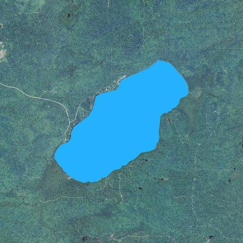 Fly fishing map for Lake Gratiot, Michigan