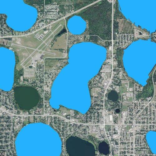 Fly fishing map for Lake Hartridge, Florida