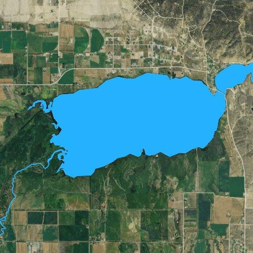Fly fishing map for Lake Helena, Montana
