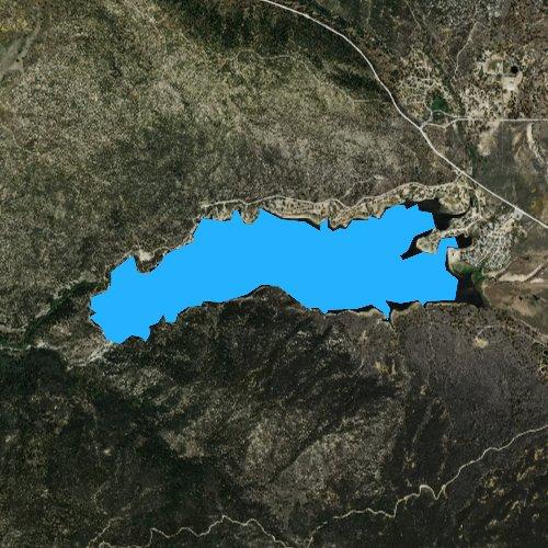 Fly fishing map for Lake Hemet, California