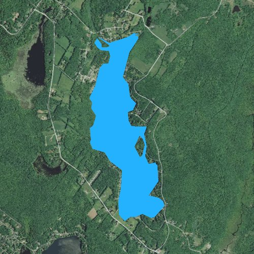 Fly fishing map for Lake Henry, Pennsylvania