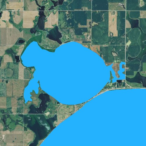 Fly fishing map for Lake Henry, South Dakota